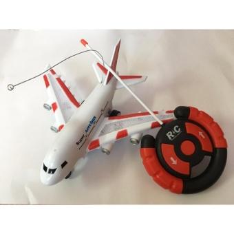 Mô hình máy bay điều khiển cho bé (Trắng đỏ)