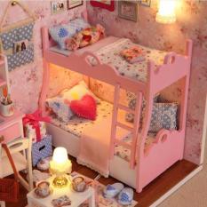Mô hình nhà gỗ Clever Mart phát triển tư duy sáng tạo cho bé (Hồng)