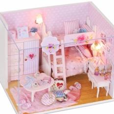 Mô hình nhà gỗ DIY có đèn – Pink Girl
