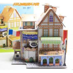 Mô hình nhà xếp bằng giấy 3D phát triển kỹ năng cực chất – biệt thự kiểu Pháp
