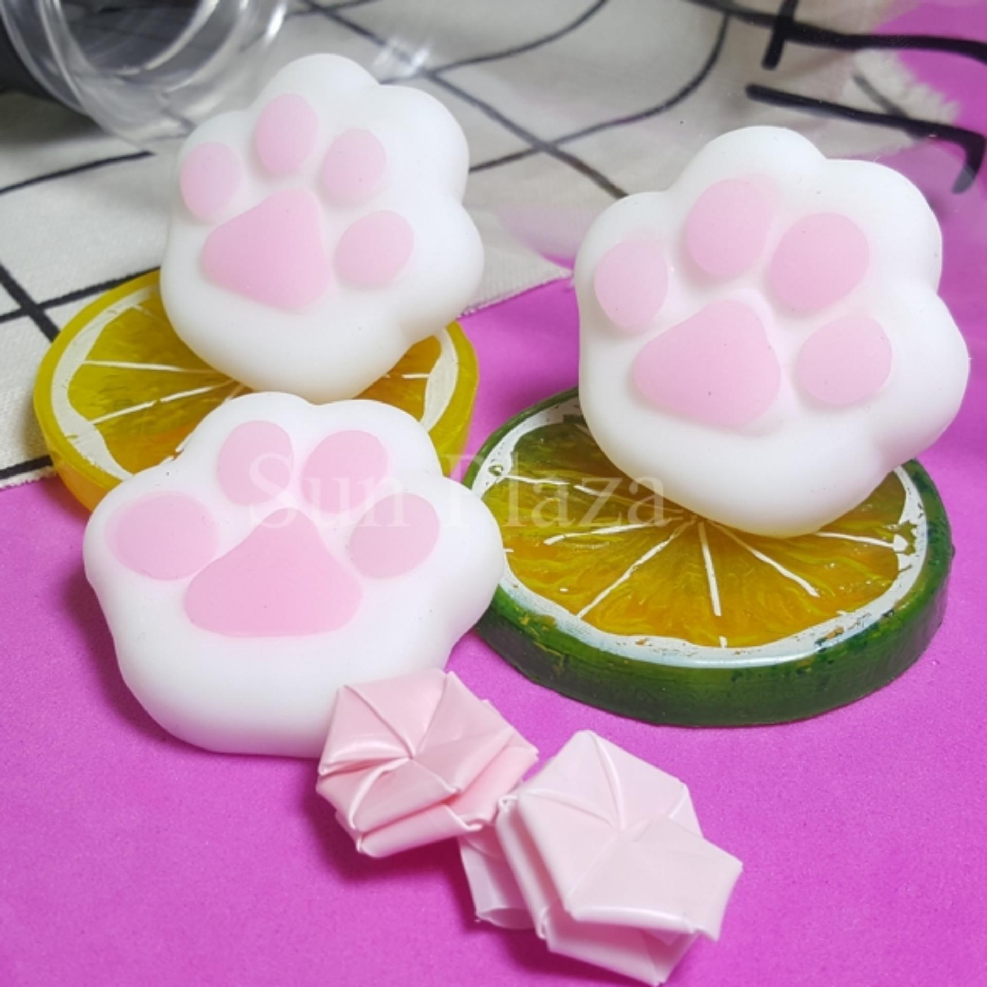 ►Mochi Squishy◄ Bàn Chân Mèo siêu mềm – Tặng nút chống bụi tai nghe cho điện thoại – Mochi Squishy Silicon cao cấp