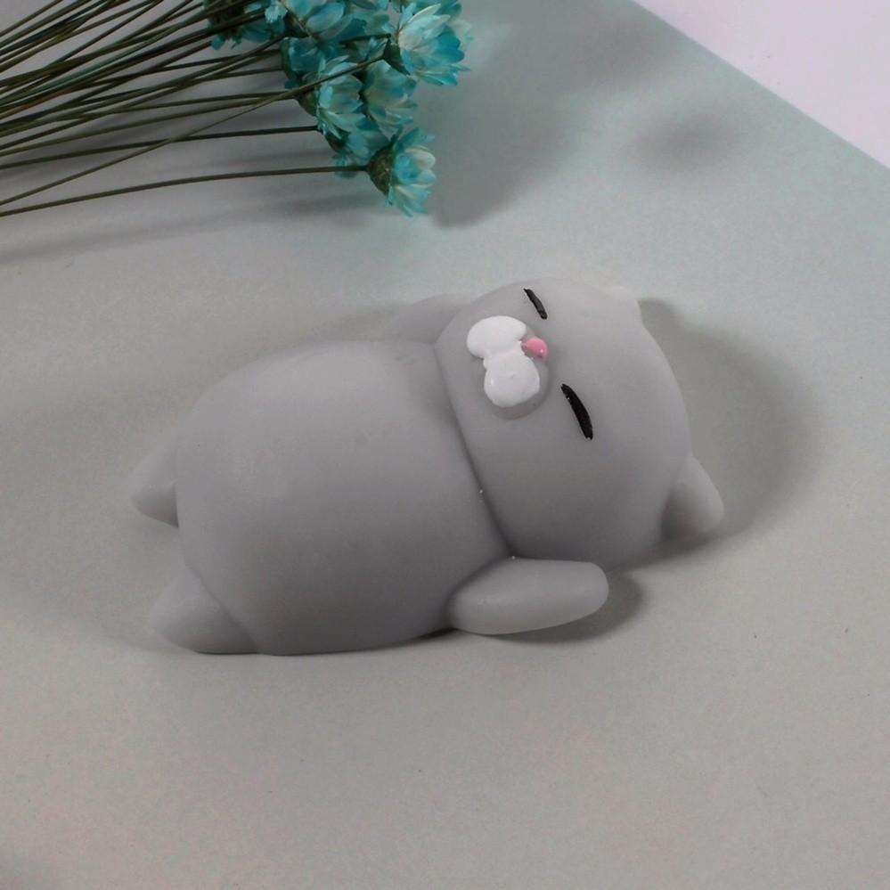 Mochi squishy mèo XÁM mập ú – Đồ chơi cho bé