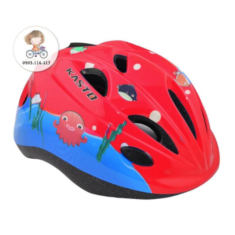 Mũ bảo hiểm trẻ em (Đỏ cá heo)