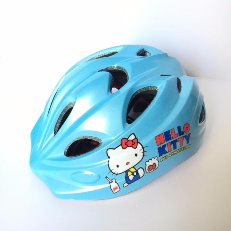 Mũ bảo hiểm trẻ em (Xanh da trời Kitty)