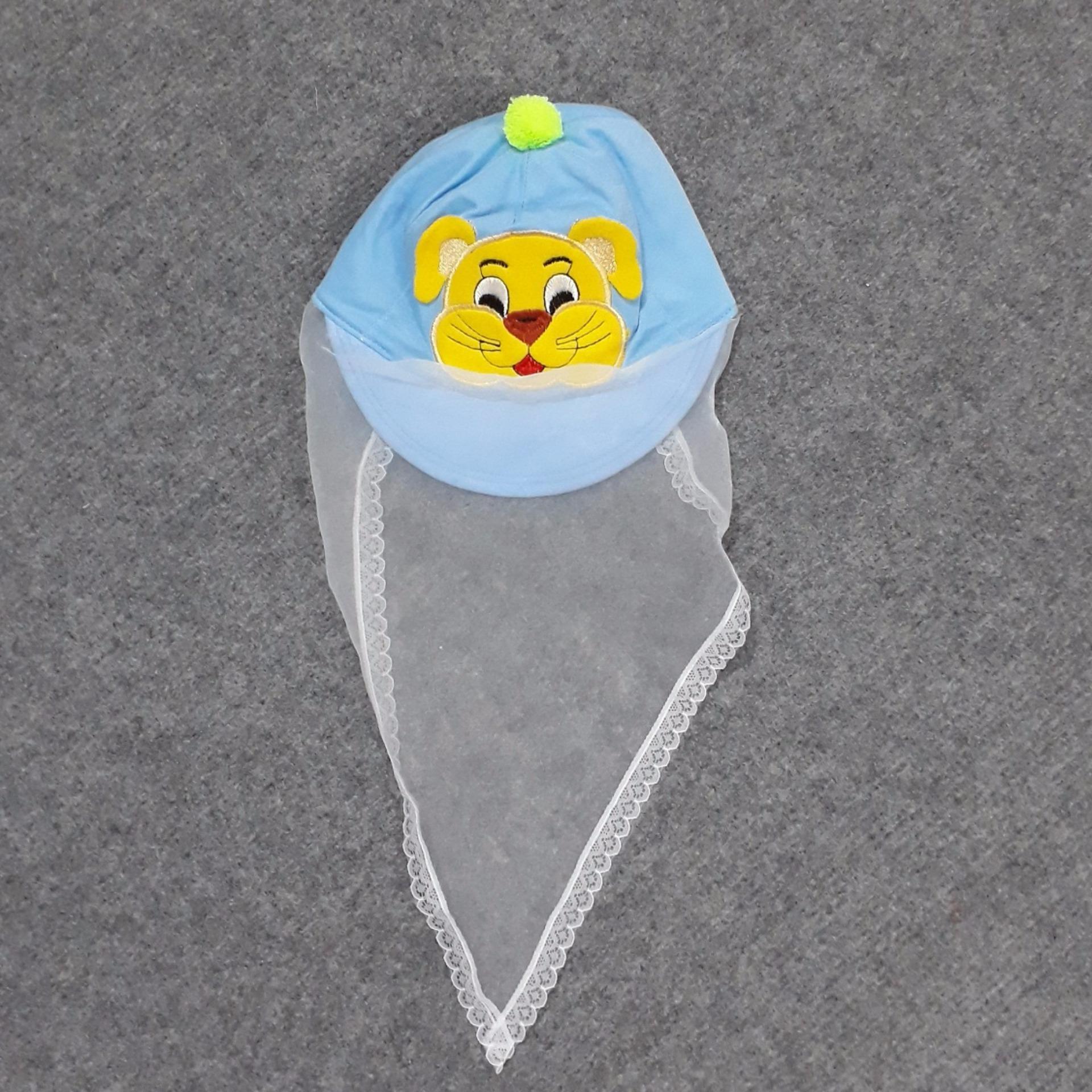 Mũ kèm voan che mặt chống bụi cho bé từ 0 – 12 tháng