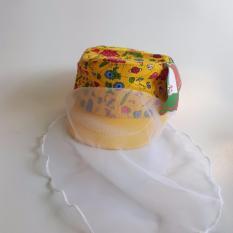 Mũ sơ sinh cho bé kèm lưới che mặt
