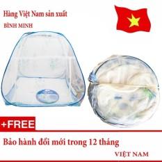 Mùng chụp Tự Bung Chống Muỗi loại 1 cửa 1m8 x 2m siêu bền (Loại đỉnh rộng) – Hàng Việt Nam