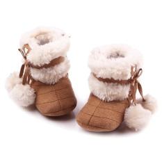 Bé sơ sinh Trẻ Sơ Sinh Mùa Đông Ấm Áp Mềm Mại Giày Giày Giáng Sinh Giày Sâu Kaki Size M cho bé từ 6-12 Tháng tuổi Trẻ Sơ Sinh-quốc tế