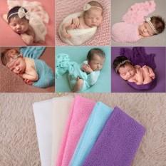 Bé sơ sinh Chụp Ảnh Ảnh Đạo Cụ Sợi Mềm Bọc Đầm Chăn-quốc tế