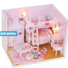 Nhà búp bê DIY – Ngôi nhà màu hồng