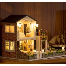 Girl doll house Furniture toy diy Miniature room diy wooden dollhouse ROMANTIC COUNTRY