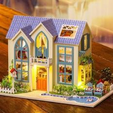 Nhà búp bê Victorian Cottage DiyDollHouse