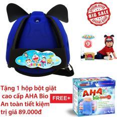 Nón Bảo Vệ Bé Babyguard logo Doremon03 xanh bích tặng 1 hộp Bột giặt cao cấp AHA Baby 1kg