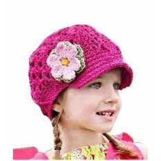 Nón len cho bé gái 0 – 24 tháng – Nón HỒNG HOA
