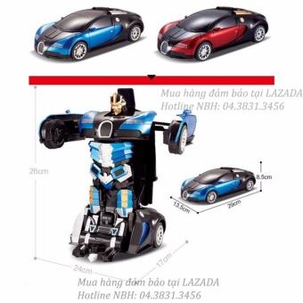 Ô tô biến hình Robot cực ngầu (Xanh phối đen)