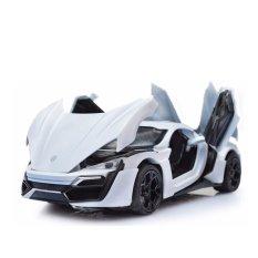 ô tô mô hình Lacon thể thao bằng hợp kim tinh xảo có bánh đà (trắng)