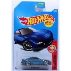 Ô tô mô hình tỉ lệ 1:64 Hot Wheels 2018 '95 Mazda RX-7 ( Màu Xanh )