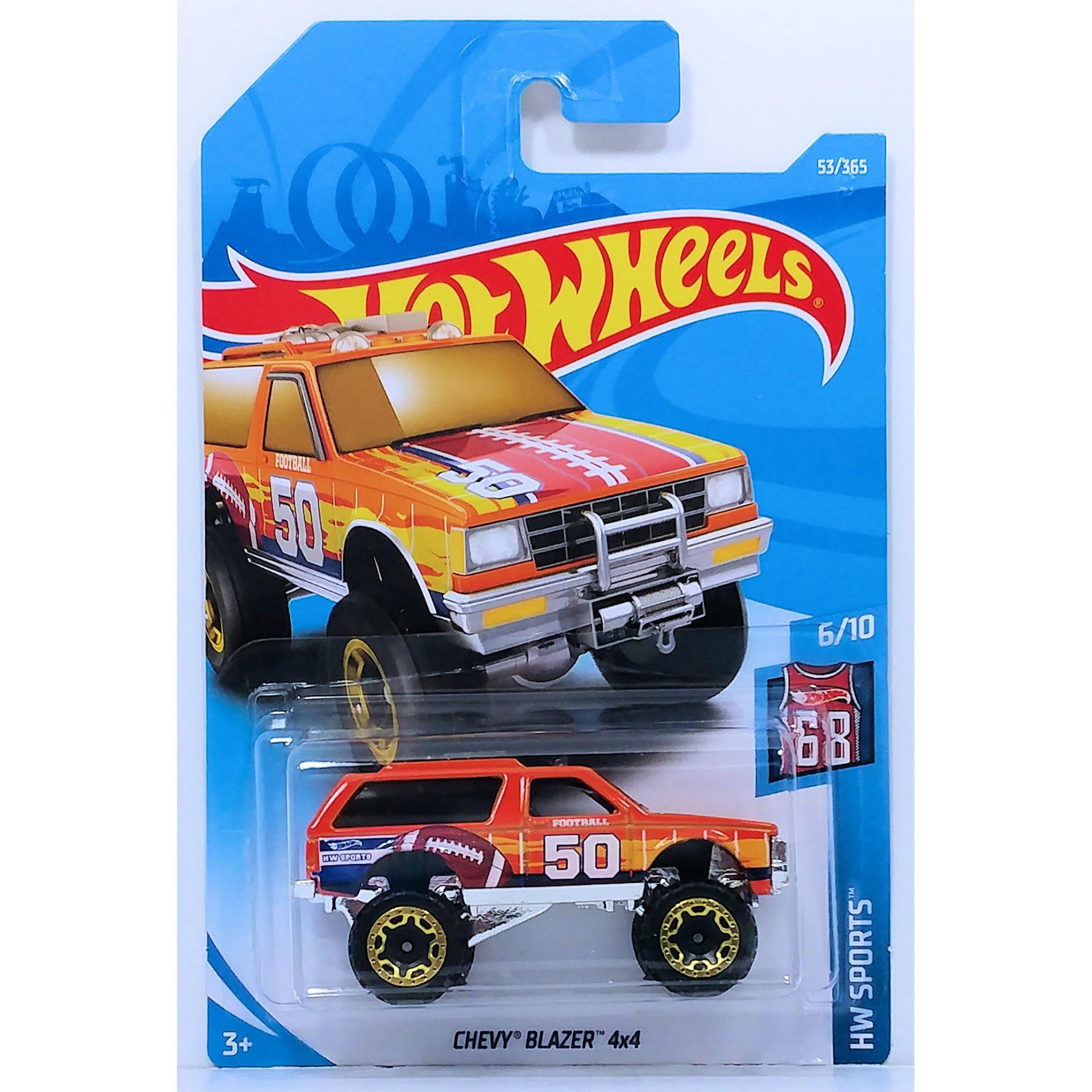 ô tô mô hình tỉ lệ 1:64 Hot Wheels 2018 Chevy Blazer 4×4 ( Màu Cam )