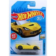 ô tô mô hình tỉ lệ 1:64 Hot Wheels 2018 Corvette C7 Z06 Convertible ( Màu Vàng)