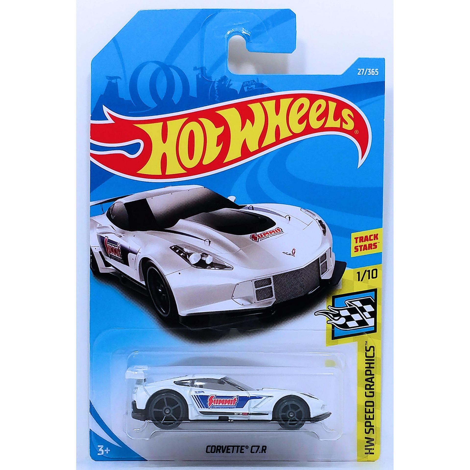 Ô tô mô hình tỉ lệ 1:64 Hot Wheels 2018 Corvette C7.R ( Màu Trắng )