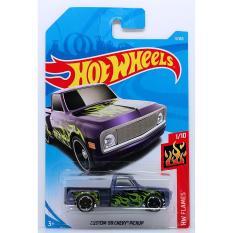 Ô tô mô hình tỉ lệ 1:64 Hot Wheels 2018 độc quyền Kmart Custom '69 Chevy Pickup ( Màu Tím )