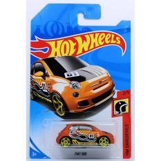 Ô tô mô hình tỉ lệ 1:64 Hot Wheels 2018 Fiat 500 số 01 ( Màu Cam )