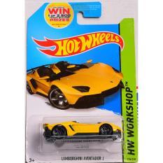 ô tô mô hình tỉ lệ 1:64 Hot Wheels Aventador J 196/250 ( màu Vàng )