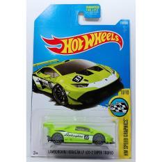 ô tô mô hình tỉ lệ 1:64 Hot Wheels Huracan Huracán LP 620-2 Super Trofeo 319/365 ( Màu Xanh )