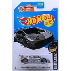 ô tô mô hình tỉ lệ 1:64 Hot Wheels Huracan Huracán LP 620-2 Super Trofeo 82/250 ( Màu Xám )
