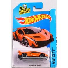 ô tô mô hình tỉ lệ 1:64 Hot Wheels Veneno 37/250 ( màu cam )