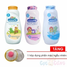 Phấn ngừa rôm sẩy Kodomo 180g + Phấn dưỡng ẩm Kodomo 180g + Phấn chống côn trùng Kodomo 180g Tặng Hộp đựng phấn