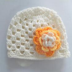 Nón len cho bé gái 0 -12 tháng – Nón HOA
