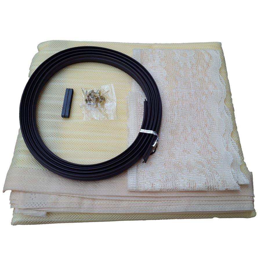Rèm cửa chống muỗi, côn trùng 1m x 2.1m (Vàng chanh)