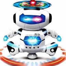 Robot biết nhảy và xoay 360 độ theo điệu nhạc + tặng kèm đèn ngủ cảm ứng hình nấm
