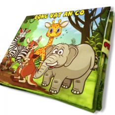 Sách vải cho bé chơi mà học Pipo – Động vật ăn cỏ