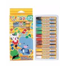 Set 12 bút sáp màu tô màu cho bé hàng nhập khẩu Nhật Bản