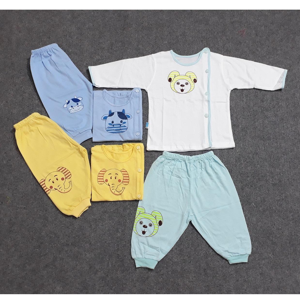 Combo 3 bộ quần áo dài Thái Hà Thịnh các màu cho Bé Trai từ sơ sinh – 9kg