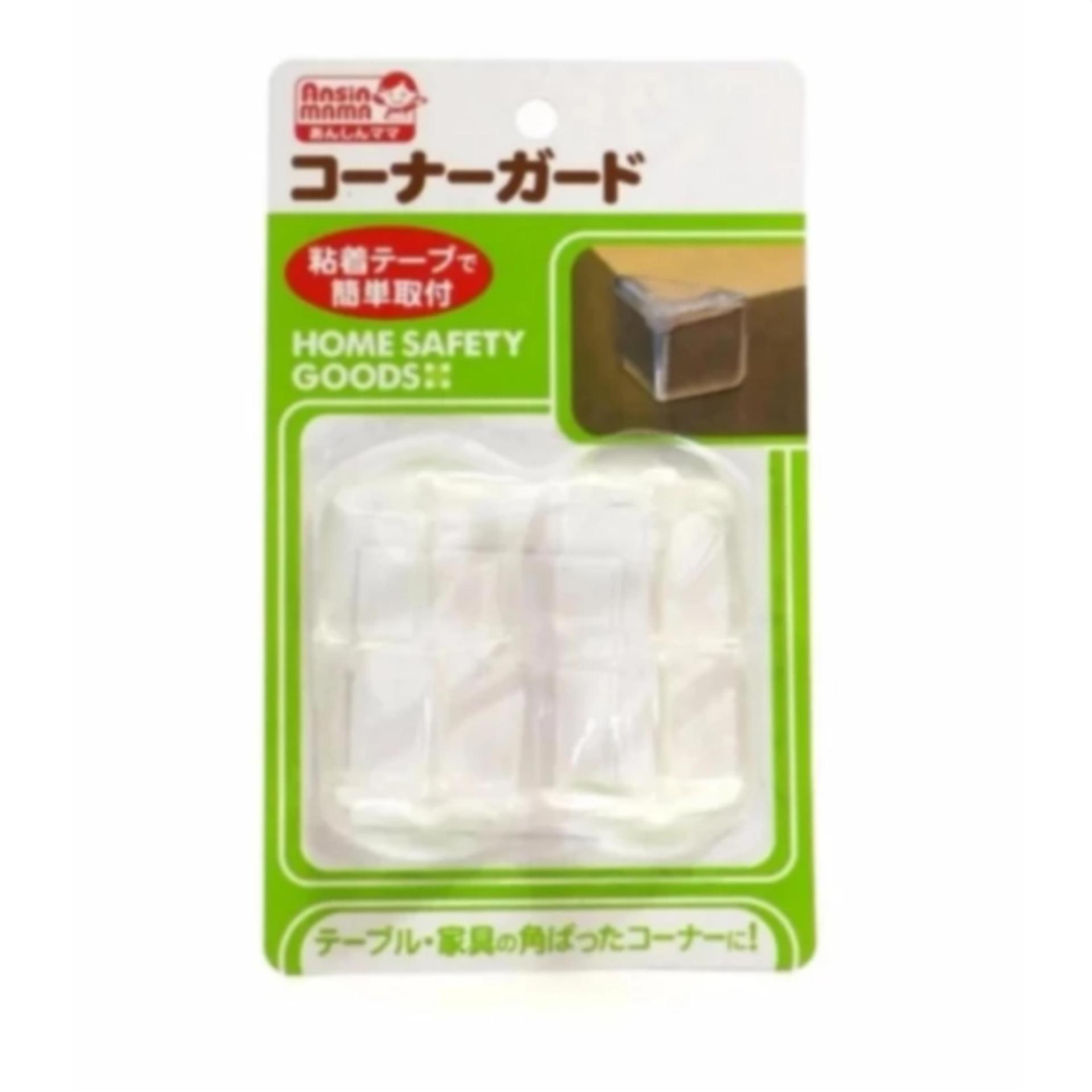 Set 4 bịt cạnh bàn silicon an toàn cho bé (Japan)