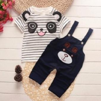 Set áo yếm gấu bé trai & bé gái