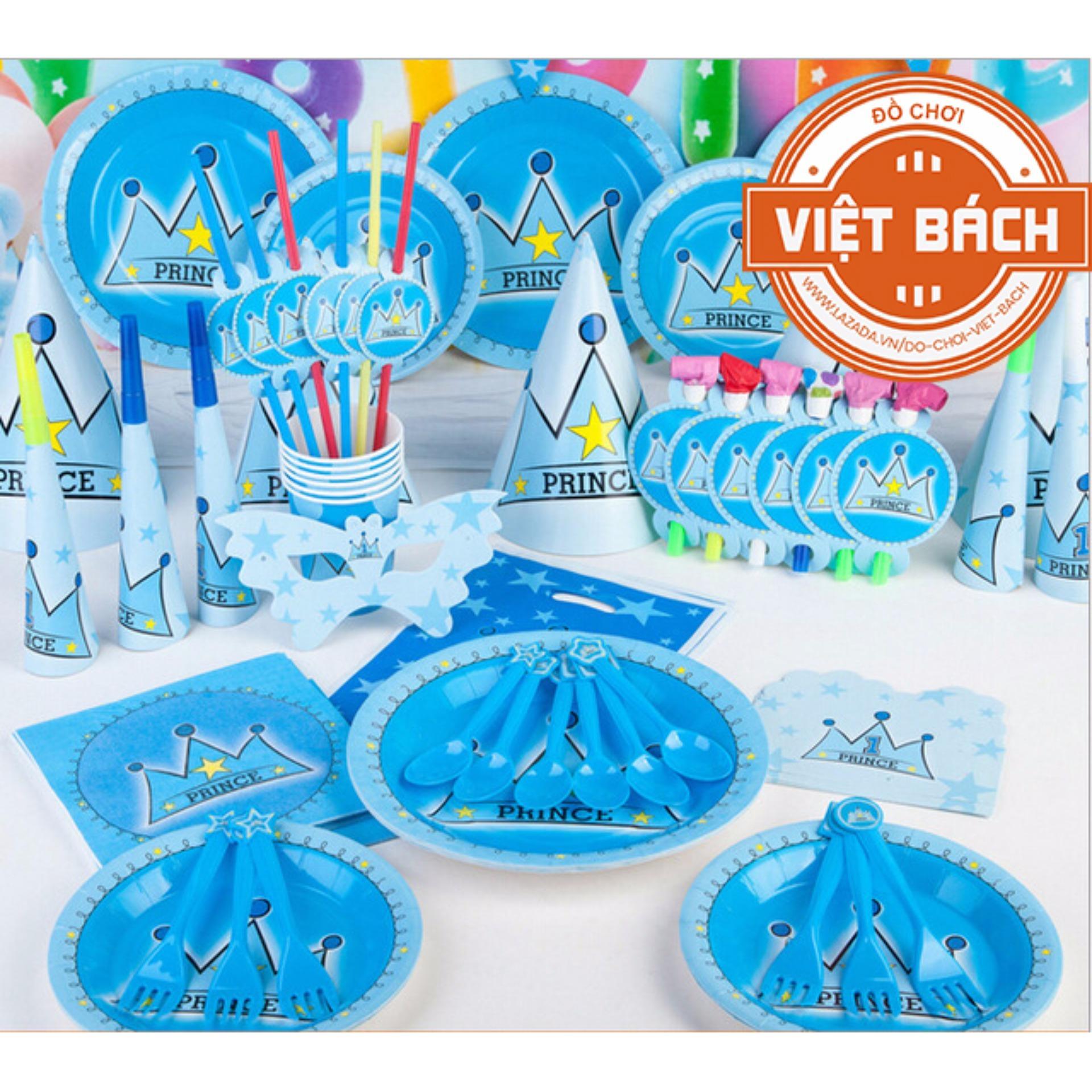 Set trang trí sinh nhật để bàn hình Vương Miện 13 món
