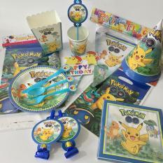 Set trang trí sinh nhật hình Pikachu