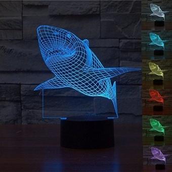 Shark Colorful 3D Vision LED Light Gradient 3D Light - intl