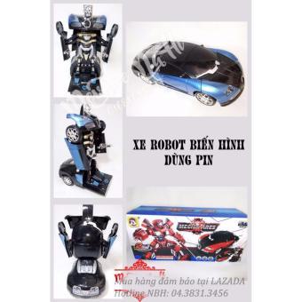 Siêu xe thể thao biến hình Robot cực ngầu (Xanh phối đen)