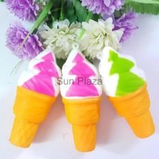 Squishy – Mua 1 Squishy Kem Ốc Quế Tặng 1 Squishy Bánh Macaron Mochi Squishy Sun Plaza