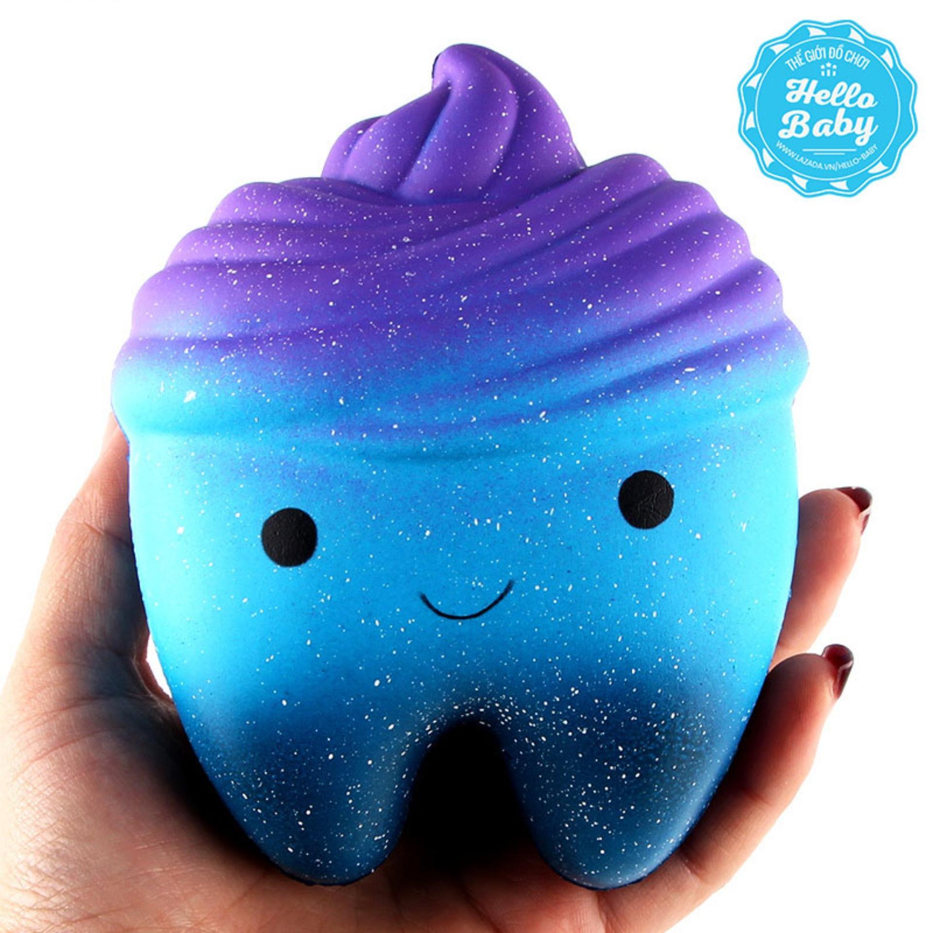 Squishy - Răng galaxy lấp lánh (12x9x7cm) / Hello Baby