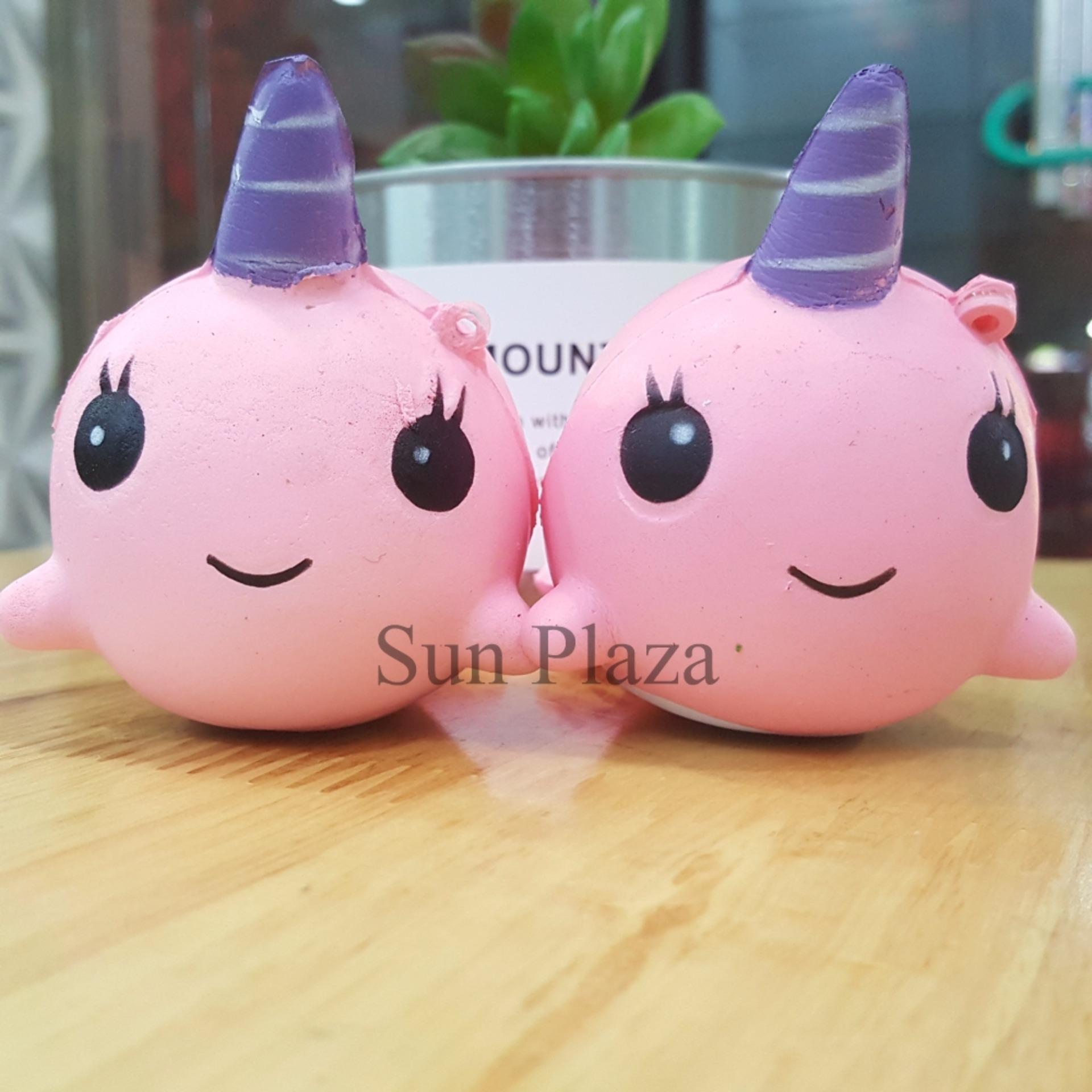 ► Squishy ◄ Squishy Cá Voi HỒNG Có Sừng – (Shop còn rất nhiều loại Squishy khác nhau như gấu trúc, bát cơm, bánh bông lan, gato…)