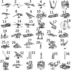 (Phong cách 16) MINI 3D Kim Loại Đồ Chơi Ghép Hình cho trẻ em Mô Hình Đồ Chơi trẻ em bằng thép không gỉ DIY mô hình 3D ba chiều ghép- quốc tế