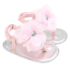Summer Newborn Girls Shoes Baby Shoes Kids Flowers Slippers Prewalker(Pink)-Inch:0-6Months – intl