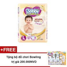 Tã Dán Bobby Extra Soft Dry L30 +Tặng bộ đồ chơi Bowling trị giá 200.000NVD