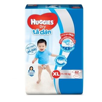 Tã dán Huggies Dry Super JumboXL62